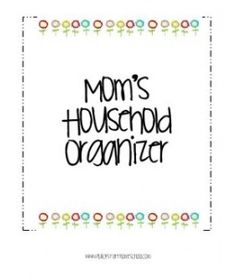 Household Organizer Pages