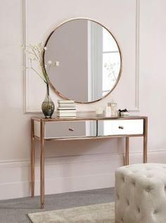 Buy Copper Metal Mirror from the Next UK online shop Dressing table goals! Modern Bedroom Furniture, Furniture Sets, Furniture Stores, Furniture Dolly, Furniture Outlet, Cheap Furniture, Furniture Design, Mirror Furniture, Furniture Buyers