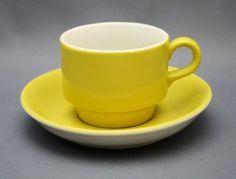 Kaj Franck, Finland, Arabia manufacturer, 1950-60, Kesto Vintage Coffee Cups, Kitchenware, Tableware, Shades Of Yellow, Cool Kitchens, Metallica, Finland, Industrial Design, Ceramics