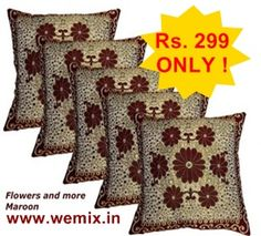 Designer Cushion Covers Set of 5    Rs. 299