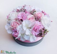 Nagy rózsaszín rózsás virágdoboz (Decoflor) - Meska.hu Crown, Jewelry, Corona, Jewlery, Jewerly, Schmuck, Jewels, Jewelery, Crowns