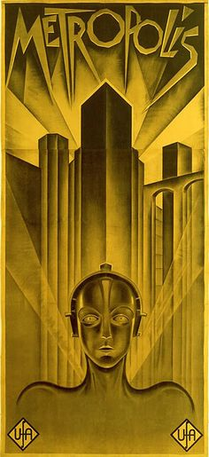 "Original poster for Fritz Lang's ""Metropolis"" 1927"