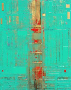 FineArtSeen - Teal Gold Abstract by Robert Lynn. This original abstract painting is full of colour and comes from the collection on FineArtSeen. Click to view more art at great prices from the Home Of Original Art. << Pin For Later >>