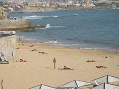 Parede sandy sunny beach, 20' away from Lisbon #Portugal