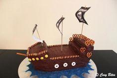 Pirate Ship Cake (With Hershey's Chocolate Cake Recipe)