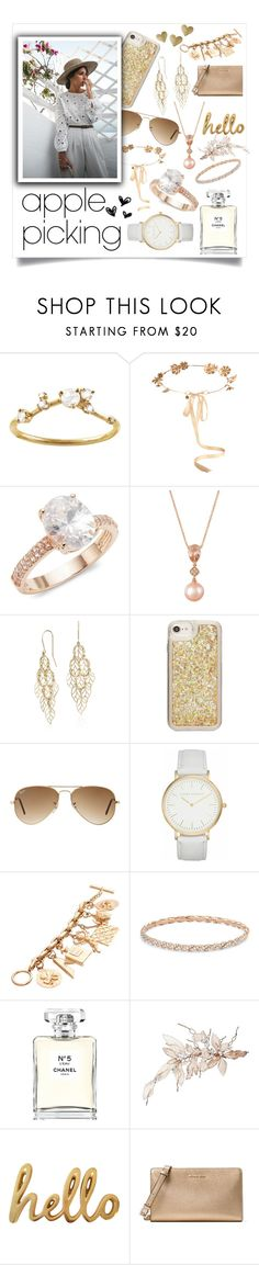 """""""Harvest Time: Apple Picking"""" by elizabeth-rose-13 ❤ liked on Polyvore featuring WWAKE, Eugenia Kim, Saks Fifth Avenue, LE VIAN, Blue Nile, ban.do, Ray-Ban, Laura Ashley, Chanel and David Yurman"""