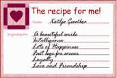 recipe for me activity