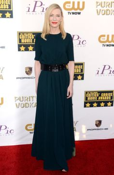 Le tapis rouge des Critic's Choice Awards 2014: Cate Blanchett en Lanvin.