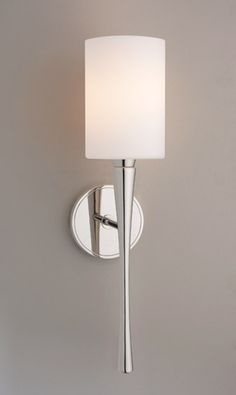 Euro 3 | Ayre, Glass Shade Chrome Bathroom Wall Sconce