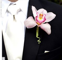 love the orchid boutonniere