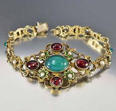 Garnet Austro Hungarian Antique Victorian Bracelet - Boylerpf