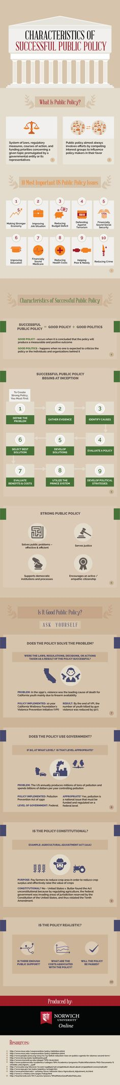 Characteristics of Successful Public Policy #infographic #PublicPolicy #Business