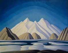An iconic Lawren Harris canvas titled Baffin Island. Harris is to be the subject of a solo exhibition co-curated by comedian Steve Martin, aimed at introducing the Group of Seven painter's works to an American audience. Group Of Seven Artists, Group Of Seven Paintings, Canadian Painters, Canadian Artists, Winter Landscape, Landscape Art, Lauren Harris, Tom Thomson Paintings, Art Gallery Of Ontario
