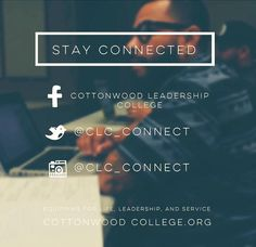 i LOVE Cottonwood Leadership College!!! Amazing Staff and Content. Going back in August for my 2nd year and beyond..YAY!! :)