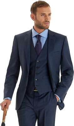 Lanificio F.lli Cerruti Dal 1881 Tailored Fit Indigo Mix and Match Suit Jacket