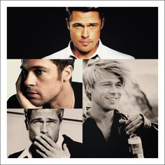 """Brad Pitt    """"I`m one of those people you hate because of genetics. It`s the truth.""""     Best features: his lips and his smile.  Famous movies: Interview with the Vampire, Fight Club, The Curious Case of Benjamin Button, Inglorious Basterds"""
