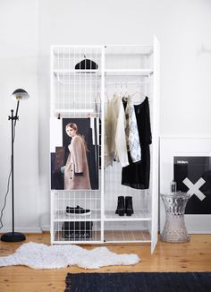This cool cage closet doubles as a clothing and accessories rack, and it will look stylish in any room.