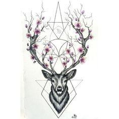 Tatuaż deer )