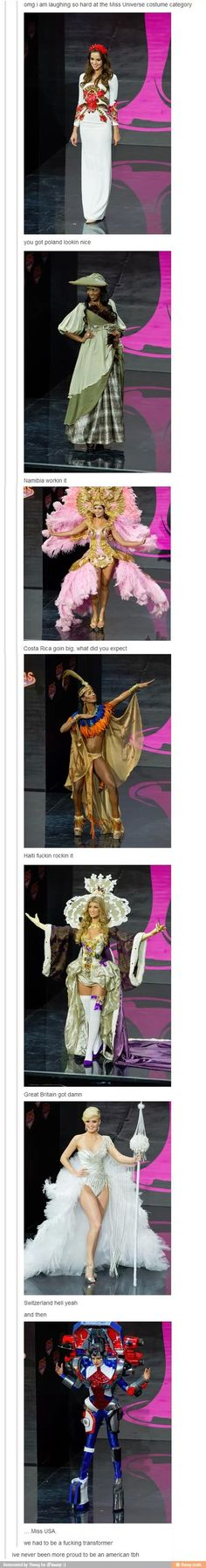 Miss universe costume category