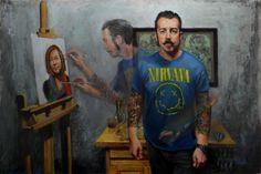 """Third Place - Brandon Douglas """"Self Portrait, Age 30"""" - Oil"""