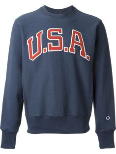 Champion Embroidered Usa Patch Sweatshirt - Penelope - Farfetch.com  Athletic Clothes, Athletic Outfits d7735a973a07