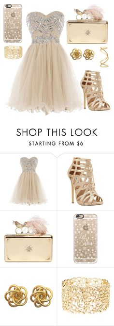 """A Little Gold"" by watermelonandmusyc ❤ liked on Polyvore featuring Steve Madden, Alexander McQueen, Casetify, Charlotte Russe and Maison Margiela"