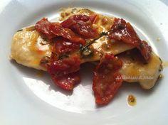 Petti di pollo al timo e pomodori secchi - Chicken breast with thyme and dried tomatoes