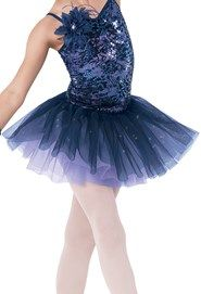 Weissman™   Glitter Lace Tulle Tutu Dress