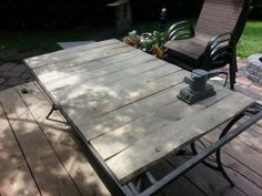 Patio Table Top Redo With Pallet Wood