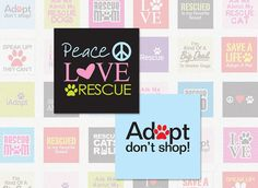 ANIMAL RESCUE  1 Inch Square Digital Collage Sheet by collageshop