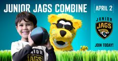 The Junior Jags Combine is April 2.  Sign your child up for Junior Jags, so they can participate: jagrs.com/juniorjags16