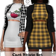 Lumy Sims - Cant Relate Set for The Sims 4 cc Sims 4 Toddler Clothes, Sims 4 Mods Clothes, Sims 4 Clothing, Sims 4 Cas, Sims Cc, Sims 4 Traits, Sims 4 Black Hair, Vetements Clothing, Pelo Sims