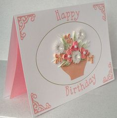 Image detail for -Quilled birthday card quilling flowers by PaperDaisyCardDesign