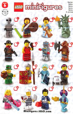 lego minifigures series 6 list