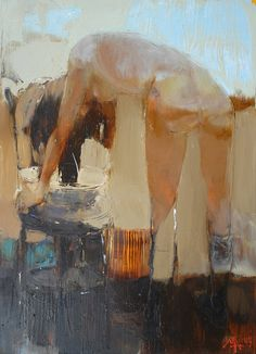 Alina Maksimenko Paintings, Art, Oil on canvas, Postimpressionism - Bathing