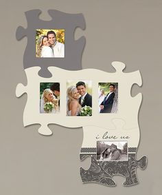 i love us puzzle photo frame set this is super cute and notice