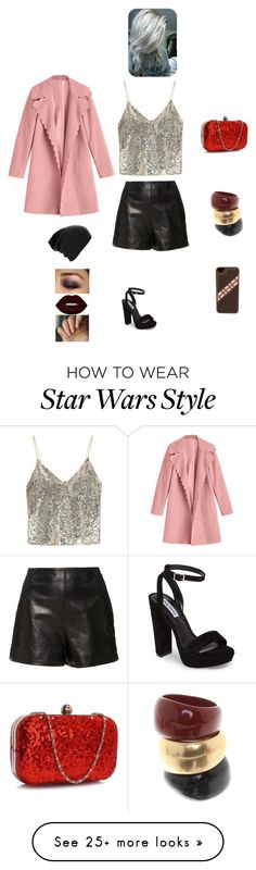 """K B M J J"" by queen-kaitlyn on Polyvore featuring Alice + Olivia, RED Valentino, Steve Madden, Salvatore Ferragamo and Lime Crime"