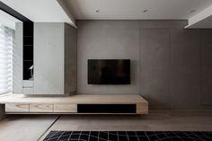 電視牆也是隔間牆,水泥飾板,空空空 INDOT | LIGHT OF THE DARK SIDE