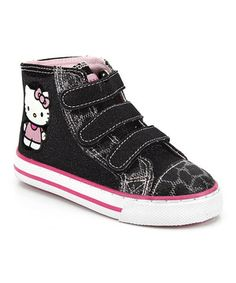 Black & Pink Lil Lilith Hi-Top Sneaker by Hello Kitty #zulily #zulilyfinds