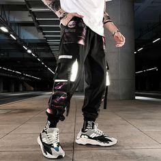 Streetwear Hip Hop Cargo Pants Patchwork //Price: $18.69 & FREE Shipping // #fashion #style #love Mens Sweatpants, Jogger Sweatpants, Estilo Hip Hop, Military Pants, Cargo Pants, Fashion Pants, Urban Fashion, Street Wear, Casual Outfits