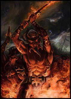Bloodletters of Khorne Warhammer 40k Art, Warhammer Fantasy, Chaos Daemons, Chaos 40k, Fantasy Battle, Dark Lord, Angels And Demons, Space Marine, Military Art
