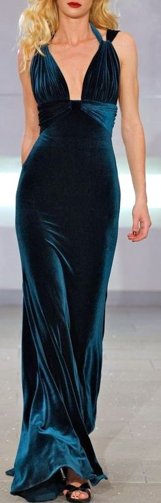 Velvet Maxi Dress - would be AMAZING for a Black Tie New Year's Eve party!!