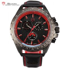 Cheap watch male, Buy Quality watch men quartz watch directly from China watches quartz watche Suppliers: Frilled Shark Sport Watch Male Display Outdoor 6 Hands Black Red Stopwatch Cool Japan Movement Mens Quartz Watches / Mens Sport Watches, Watches For Men, Men's Watches, Frilled Shark, Shark Watches, Red Fashion, Casio Watch, Omega Watch, Buy Now