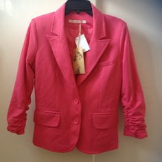 Coral Blazer Three quarter sleeve blazer. Fully lined. Comes with extra button. Jackets & Coats Blazers