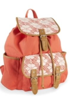 Floral Crochet Rucksack - Aeropostale Back to School Tip  A Rucksack is  always the way to go when you want a book bag that is cute but spacious. 3c4999c9032