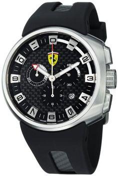 Shop for Ferrari Men's 'Podium' Black Fiber Dial Chronograph Quartz Watch. Get free delivery On EVERYTHING* Overstock - Your Online Watches Store! Dream Watches, Sport Watches, Luxury Watches, Cool Watches, Watches For Men, Wrist Watches, Men's Watches, Ferrari Watch, Ferrari F1