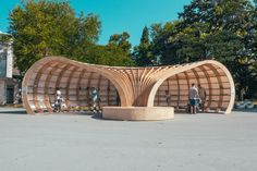 """""""Rapana"""" is the first street library in Varna, Bulgaria created by a team of young architects and designers. #Library #StreetLibrary #Design #Architecture"""