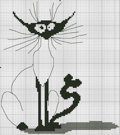 gatinho -ponto cruz