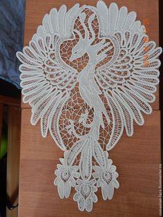 """Купить Платье """"Жар-птица"""" - белый, цветочный, румынское кружево, кружево, кружевное платье"""