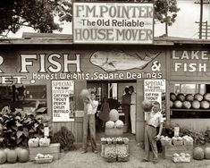 Summer 1936. Roadside stand near Birmingham, Alabama. Medium-format negative by Walker Evans for the Farm Security Administration.